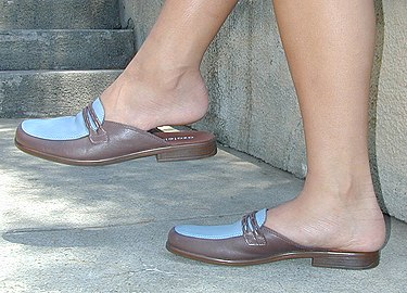 Mules loafers brown-blue low-heel.jpg