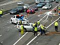 Multi vehicle accident - M4 Motorway, Sydney, NSW (8076143202).jpg