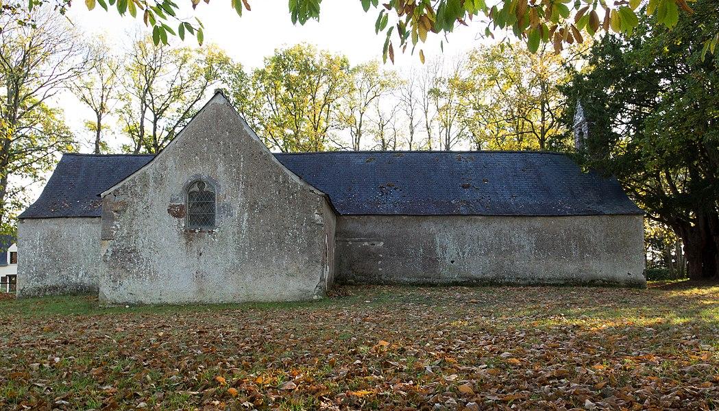 Mur nord de la chapelle Saint-Jean-d'Épileur.