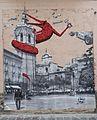 Mural de la plaça de la reina al carrer d'Entença, València.JPG