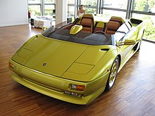 1992 Lamborghini Diablo Roadster Prototype, A Car From Which Many Design  Features Were Carried Out To The Lamborghini Diablo VT And The VT Roadster