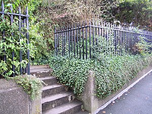 Museum of Barnstaple and North Devon - The garden railings form part of the building's listed status