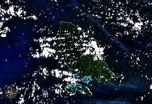 Mussau Island - Mussau Island seen from space