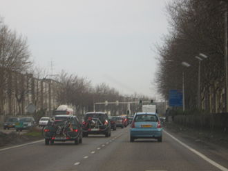 A2 motorway (Netherlands) - The N2 through Maastricht.