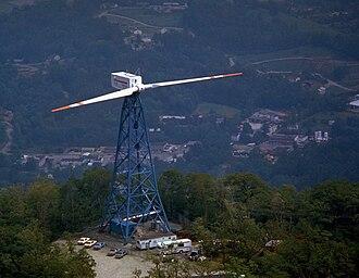 NASA wind turbines - The NASA/GE MOD-1 wind turbine in Boone, North Carolina was the world's first turbine to produce 2 MW