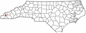 Robbinsville, North Carolina - Image: NC Map doton Robbinsville