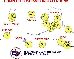 NEXRAD - NEXRAD sites in Alaska, Hawaii, U.S. territories, and military bases.