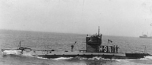 USS H-9 underway, circa 1922