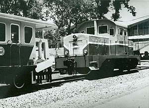 Kim Chong-t'ae Electric Locomotive Works - Narrow-gauge diesel locomotive built by the Kim Chong-t'ae Works in 1972