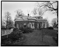 NORTH FACADE, FROM THE NORTHWEST - Monticello, State Route 53 vicinity, Charlottesville, Charlottesville, VA HABS VA,2-CHAR.V,1-16.tif