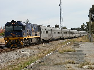 Great Southern Rail (Australia) - NR27 on the Indian Pacific in Midland in August 2008