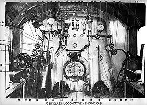 New South Wales C38 class locomotive - C.38 Class Locomotive Cab Controls