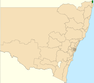 Electoral district of Tweed - Location in New South Wales