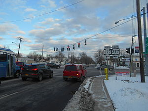 New York State Route 16 - NY 16 approaching NY 277 in West Seneca