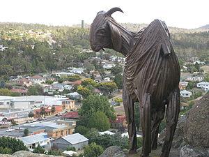 English: Nanny Goat Bronze Statue Nanny Goat H...