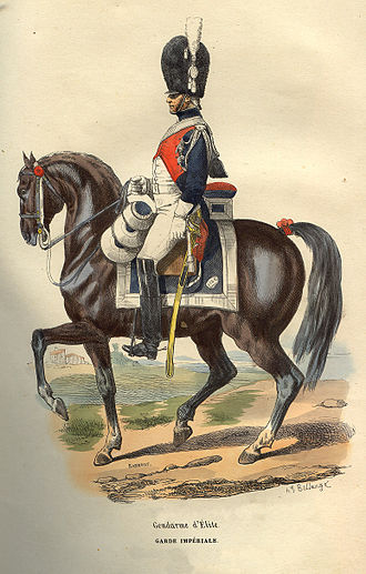 Hippolyte Bellangé - Image: Napoleon Elite Gendarme by Bellange