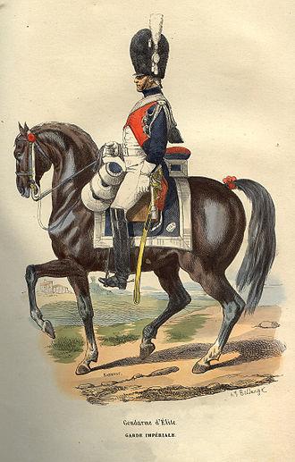 National Gendarmerie - A Gendarme d'élite de la Garde Impériale.