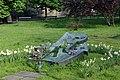 Narcyz Wiatr memorial (1992 by sculptor Bronisław Chromy), Planty Garden, Old Town, Krakow, Poland.jpg