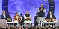 Narendra Modi attending the global CEOs conclave, in Gandhinagar, Gujarat. The Union Minister for Finance, Corporate Affairs and Information & Broadcasting, Shri Arun Jaitley, the Chief Minister of Gujarat.jpg