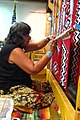 Native American rug weaver at Hubbell Trading Post National Historic Site.jpg