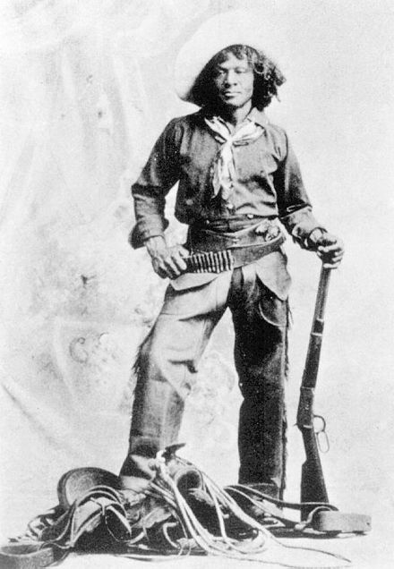 Nat Love, a famous African-American cowboy in the Wild West and former slave.