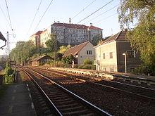 Bahnstrecke bei Nelahozeves (Quelle: Wikimedia)