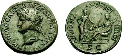 Nero Lugdunum sestertius 691535