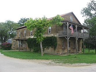 Troy, Indiana - The Nester House, a historic landmark in the town