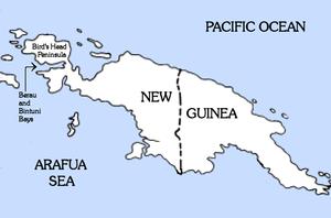 Bintuni Bay - Image: New Guinea Berau and Bintuni bays