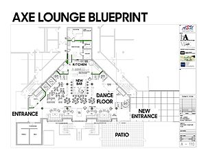 Acadia Students' Union - A blueprint of proposed renovations to The Axe Lounge.