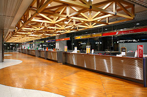 Car rental counters of New Chitose Airport