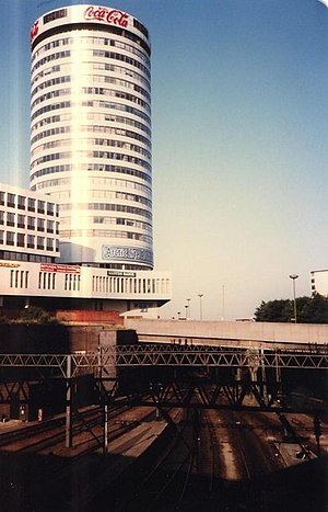 Rotunda (Birmingham) - Image: New Street Station and Rotunda geograph.org.uk 1601399