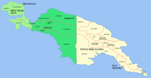 Papua conflict - Image: New guinea named