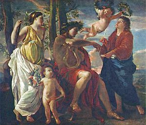 The Inspiration of the Poet - Image: Nicolas Poussin L'Inspiration du poète (1629)