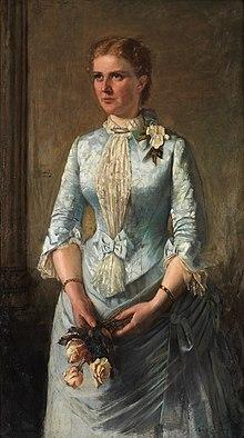 Βασίλισσα ΄Ολγα 1867, ενυπόγραφη ελαιογραφία