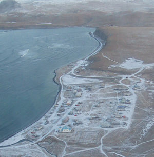 Nikolski, Alaska - Aerial Photo of Nikolski