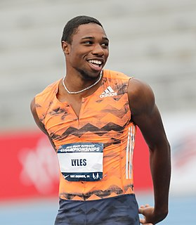 Noah Lyles American sprinter