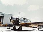 North American SNJ Texan running its engine at a Naval Air Station during World War II (80-G-K-13381).jpg