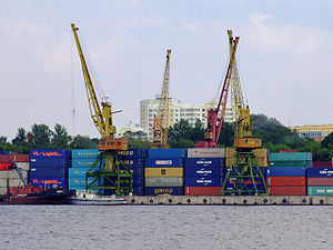 Inland port - North River Port in Moscow