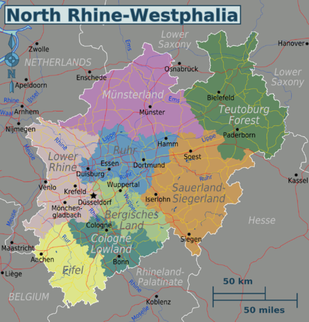 North Rhine-Westphalia – Travel guide at Wikivoyage on map of sydney australia, map of rail dusseldorf to cologne germany, map of wittlich germany and dusseldorf, map of krefeld, map of europe, map of germany dusseldorf germany,