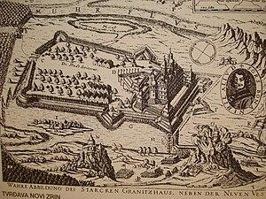 Novi Zrin - Image of Novi Zrin Fortress in 1664, before its ruination