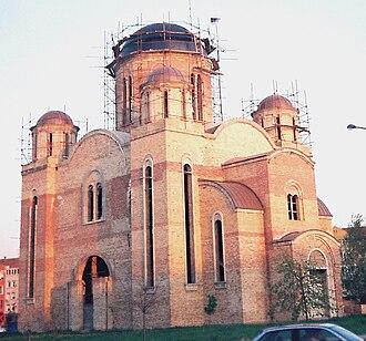 Bistrica (Novo Naselje) - Orthodox church in Novo Naselje (under construction)