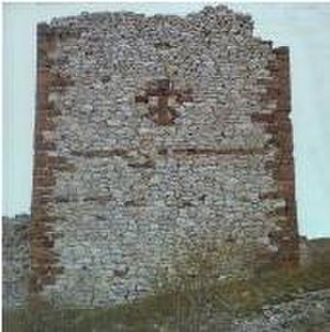 Novo Brdo Fortress - Tower with a cross