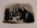 Nuns and mourning women lamenting the death of a man laid ou Wellcome V0042331.jpg