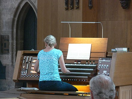 Organist at St. Sebaldus Church, Nuremberg, 2014 Nuremberg - St. Sebald church - interior 14.JPG
