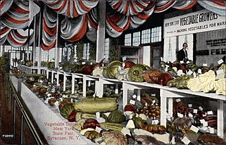 Great New York State Fair - Vegetables on display at the 1900 New York State Fair