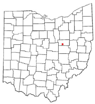 Killbuck, Ohio - Image: OH Map doton Killbuck