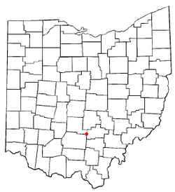 Location of Laurelville, Ohio