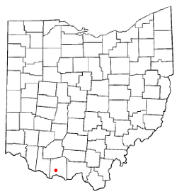 Location of West Union, Ohio