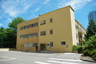 Oregon Health & Science University School of Dentistry - Back of the school's former home at the Marquam Hill campus